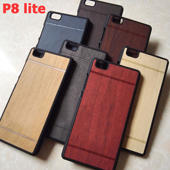 luxury hard wood plastic black  phone cases cover coque case for huawei p8 lite p8lite p 8 lite hawei huwawei huawey accessories wood