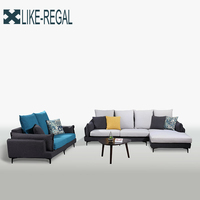 Nordic Einfache Ткань диван Диван большой размер Моющийся диван оптом-in Wohnzimmersofas aus Möbel bei
