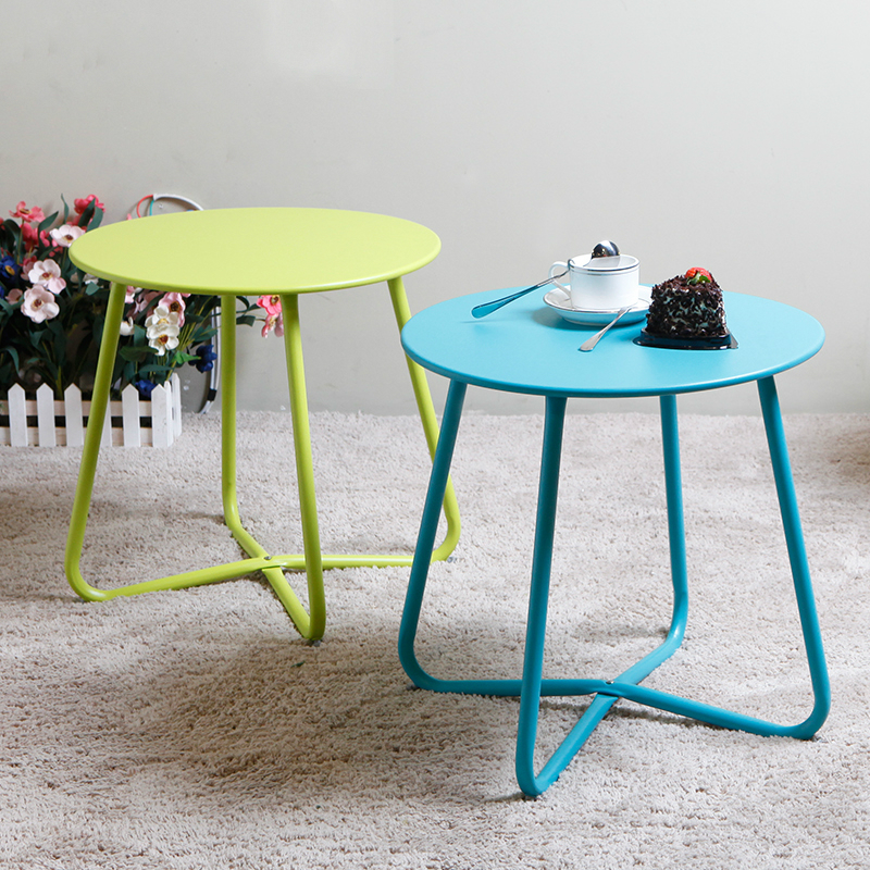 Creative Apartment Living Room Coffee Table Round Table Simple Modern Small Coffee Table Corner Table tea table simple and modern solid iron small round table living room small creative small coffee table