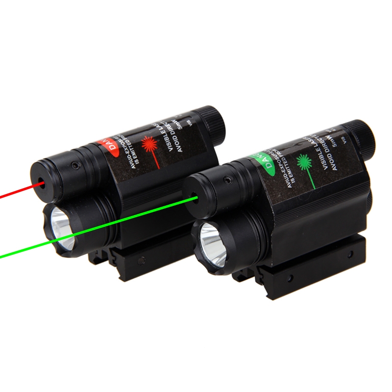 650nm Red/532NM Green Laser Sight Combo Tactical Torch Light LED Flashlight for Hunting