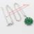 Imitado flor Verde Esmeralda de Prata Banhado Mulheres Conjuntos de Jóias Colar Pingente Brincos Anéis Pulseira Presente de Natal