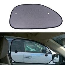 2pcs Black Car Sun Shade Side Window Sunshade Cover Mesh Visor Shield Screen Solar UV Protection 65*38cm Car Window Protector