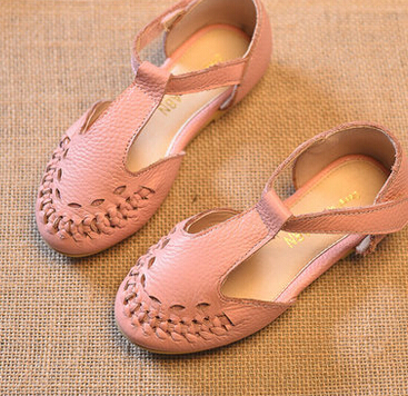 ФОТО 2016 Children's Shoes girls shoes  Girls Braided leather sandals baby girls shoes kids shoes for girls