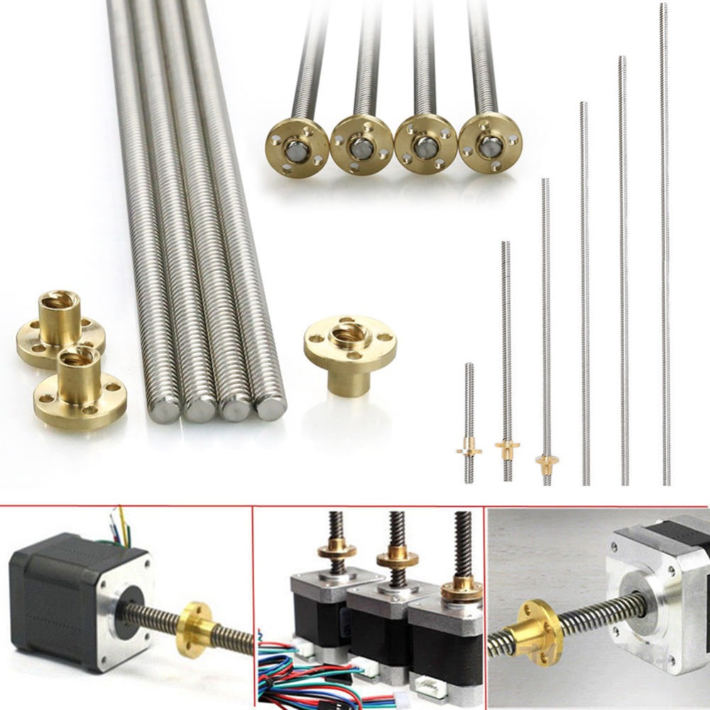 8mm Acme threaded Rod Stainless steel Leadscrew+T8 Nut For CNC 3D printer