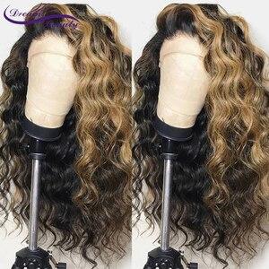 Image 4 - Perruque Lace Front wig Remy brésilienne à reflets ombré