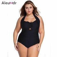 10 Colors Women Black Red Blue Summer 2016 Swimwear Bathing Suit Swimsuit Leopard Print Plus Size