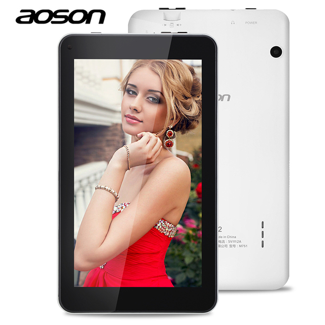 Бренд AOSON M751 7 дюймов PC таблетки 1 ГБ 8 ГБ HD IPS Android 5.1 Quad Core Две камеры Bluetooth g-сенсор WI-FI таблетки ПК