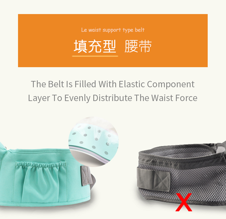 AIEBAO Breathable Ergonomic Baby Carrier Backpack Baby Sling Carrier Kangaroo Wrap 7