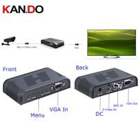 7505 Ultra HD 1080P BNC + S Video to VGA AV Adapter for Computer HDTV Projector ( AC 100 240V ) BLACK
