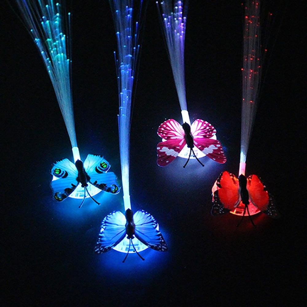 MUQGEW светодиодный парики светящийся флэш Ligtht Волосы Заплетены клип шпилька Рождество День рождения игрушка бордовый-up игрушки для детей
