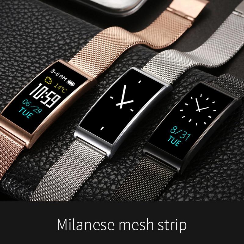 Smart Watch Metal Steel Belt Smart Bracelet Bluetooth Sport Heart Rate Blood Pressure Smart Watches Ladies Watch reloj mujer