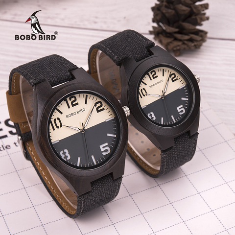 BOBO BIRD Wood Watch Men Women Lover Quartz Movement Wristwatch Causal Sport Stylish Timepiece Gift to Boy friend Girl friend Lahore