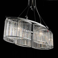 Free Shipping Post Modern LED Chandeliers Luxury Villa Lighting Crystal Chandelier Light Fixtures Gold Chrome Oval