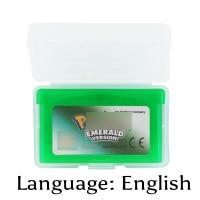 32 Bit Video Game Cartridge Pokemonn Emerald Version Console Card EU Version English Language Support Drop Shipping