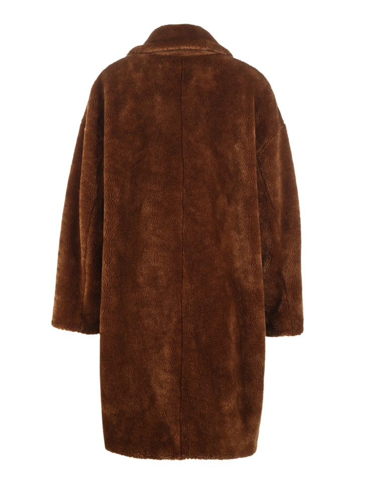Vero Moda lapel drop shoulder long teddy bear winter coat jacket | 318309503 32