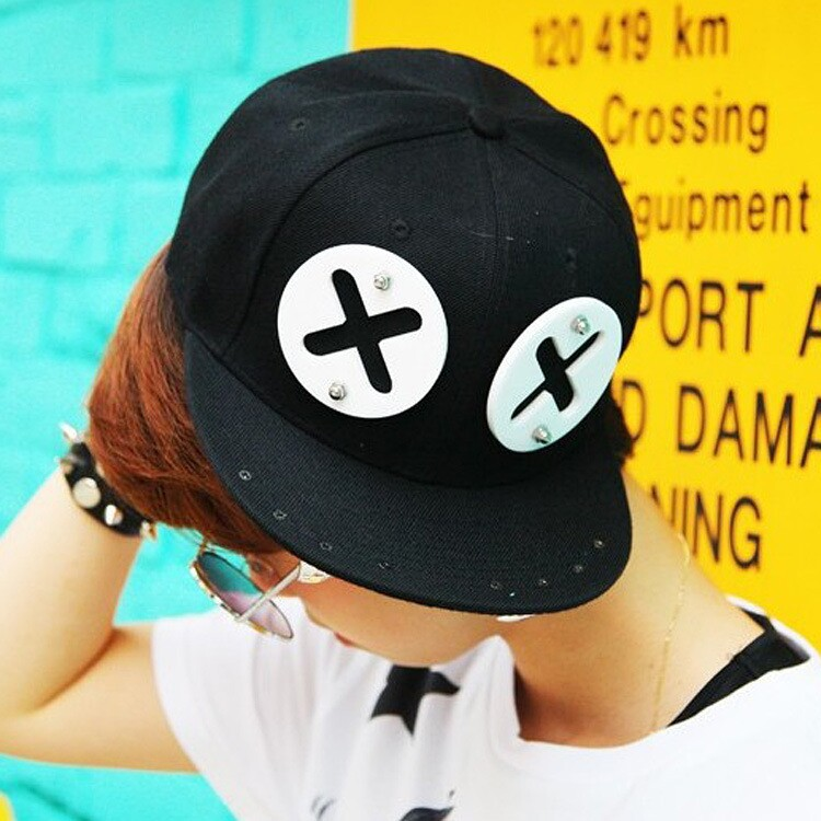 Fashion rivet XX eyes acrylic snapback caps