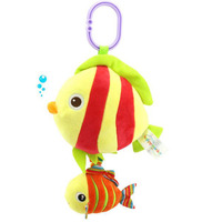 Happy Monkey Baby Melody Music Animal Toys Strollers Hanging Cartoon Octopus Fish Turtle Bell Kids Appease
