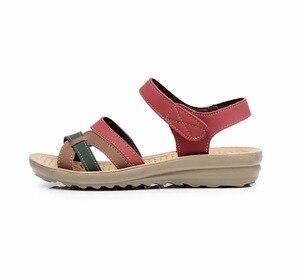 Image 2 - GKTINOO Sommer Frauen Sandalen Komfortable Damen Schuhe Strand Gladiator Sandale Frauen Casual Flache Sandalen Mode Schuh
