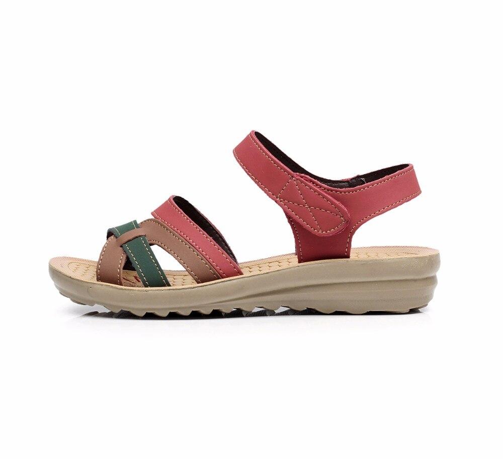 Image 2 - GKTINOO/летние женские сандалии; удобные женские туфли; пляжная обувь; сандалии гладиаторы; женские повседневные сандалии на плоской подошве; модная обувьБоссоножки и сандалии   -
