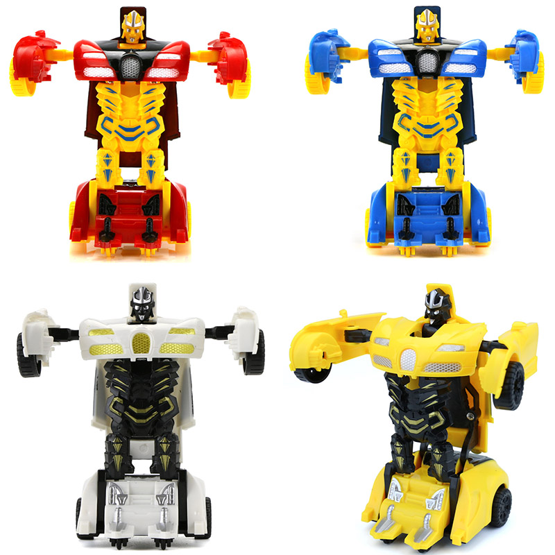 <font><b>2</b></font> in 1 One-key Deformation Car <font><b>Toys</b></font> Automatic <font><b>Transform</b></font> Robot Plastic Model Car Funny <font><b>Toys</b></font> For Boys Amazing Gifts Kid <font><b>Toy</b></font> Drop image