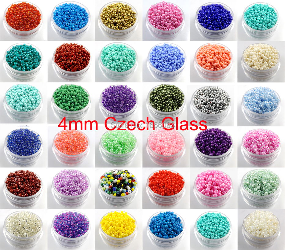 Jewelry & Accessories Wholesale 300pcs 4mm Czech Glass Seed Spacer Beads Jewelry Making Diy U Pick