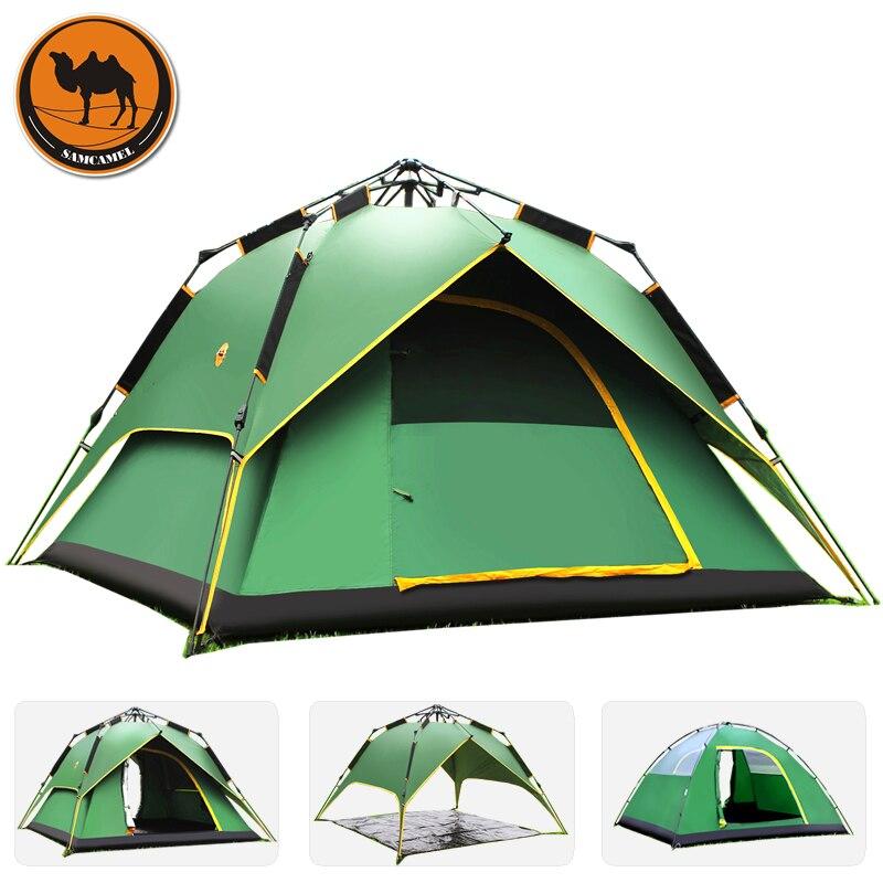 Tente de Camping en plein air de printemps 4 saisons 3-4 personnes tentes de camping professionnelles tentes d'hiver automatiques