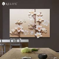Handpainted Decorative Magnolia Pictures Room Wall Nordic Painting for Living Room