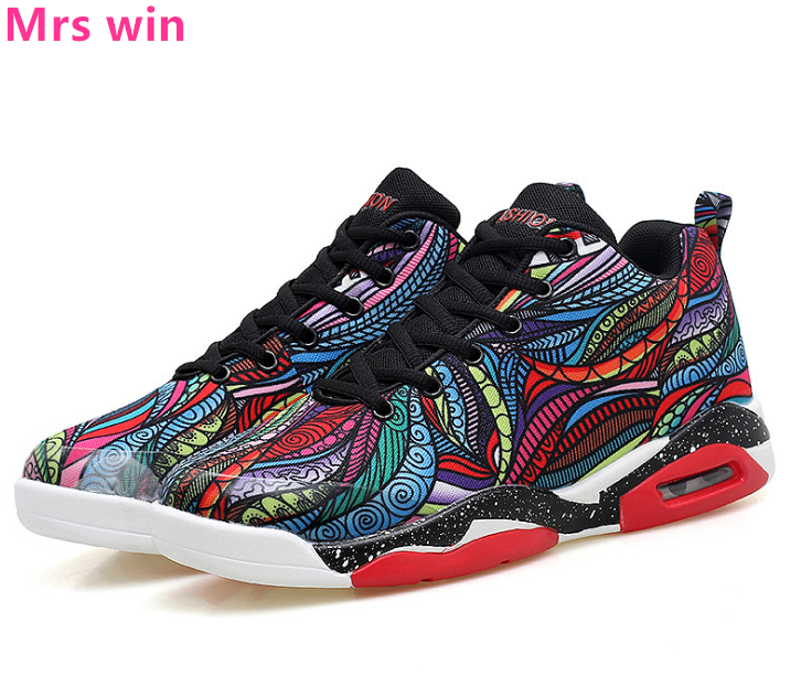 afce550b8edefa 35 47 Men and Women Basketball Shoes Outdoor AIR Sneakers Trainer Colorful  Graffiti Breathable Wear Tactics Sport Shoes zapatos-in Basketball Shoes  from ...