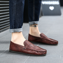 2018 New men  loafer shoes Mens Summer Autumn PU Casual Breathable man Shoes Fashion Comfortable 5