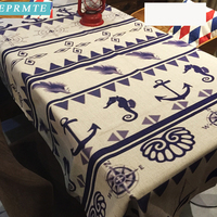 1pc 140x180cm geometric models korea tablecloths Mediterranean sea wind rectangular blending Home Decoration dining table covers