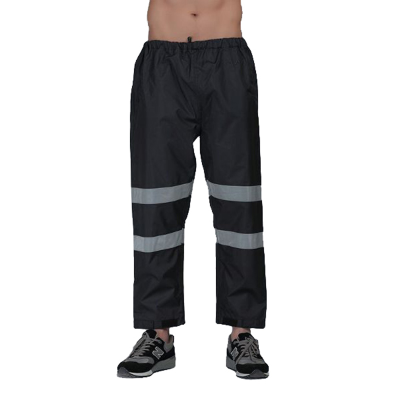 Reflective Rain Pants Raincoat Traffic Road Safety Waterproof Men Women Working Pants 300D Oxford Wear-resistance Work Trousers