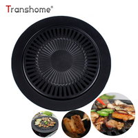 Korean Style Barbecue Baking Pan Household Smokeless Non Stick BBQ Grill Pan Cooking Sheets Cooking Tool