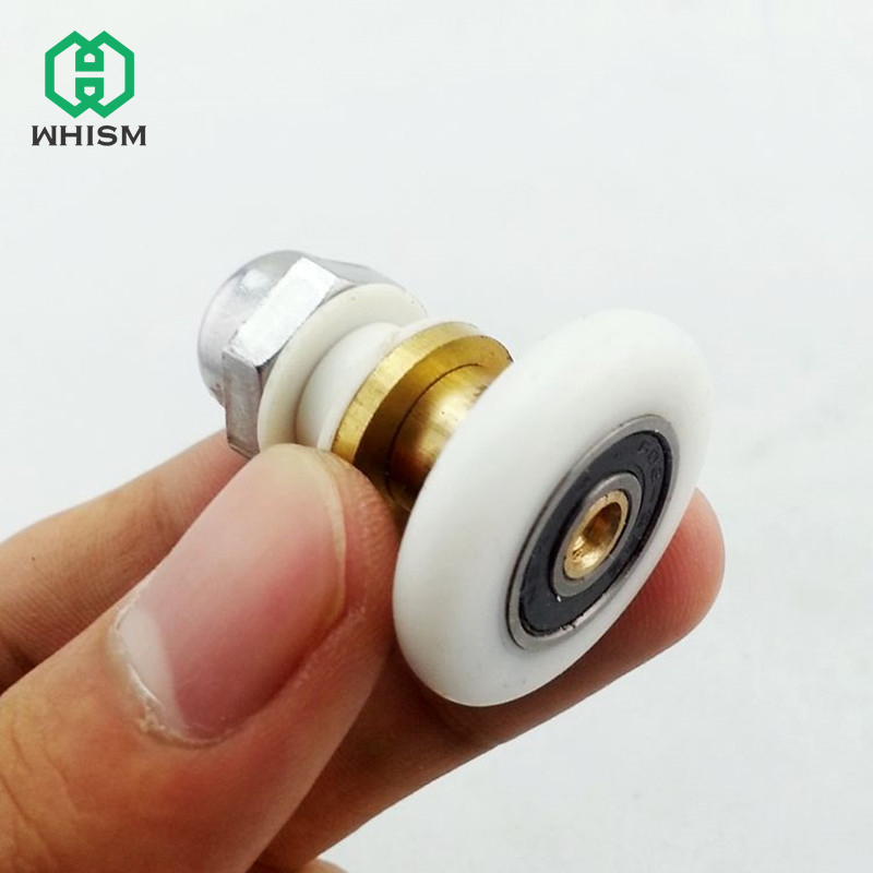 WHISM Shower Door Rollers Wheels Runner Pulleys Stainless Steel Brass Shower Wheel Replacement Bathroom Shower Rollers WheelWHISM Shower Door Rollers Wheels Runner Pulleys Stainless Steel Brass Shower Wheel Replacement Bathroom Shower Rollers Wheel