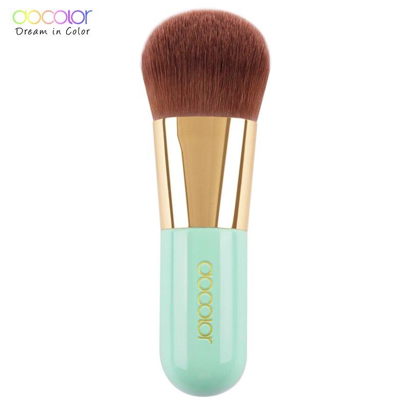 Bästa Foundation Brush Pink och Green Makeup Brush med Box Snabba Make Up Brushes Beauty Essential Makeup Tools