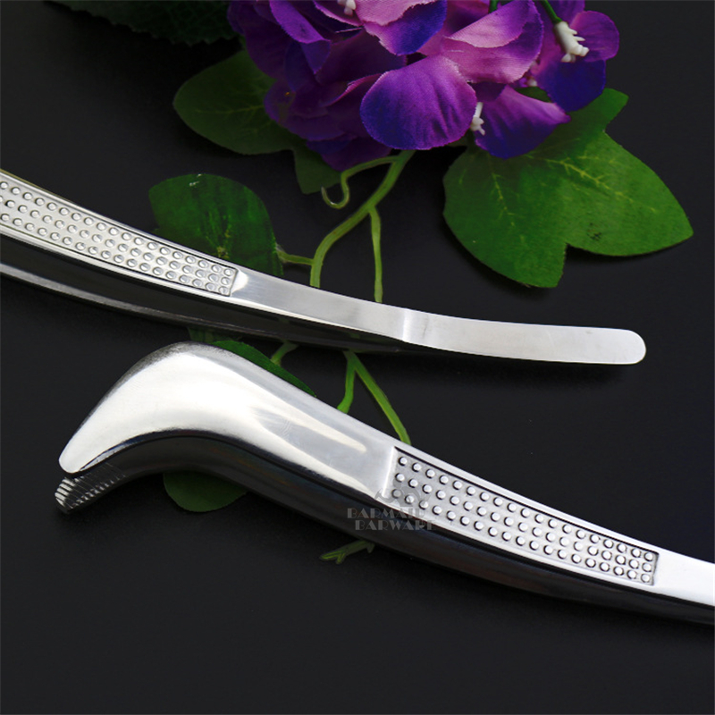 1 Piece 19cm Bent Tweezer Tongs With Comfortable Ridged Handle for Medical Beauty Cooking Kitchen Bar Accessories in Other Bar Tools from Home Garden