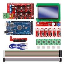 نك ثلاثية الأبعاد مجموعة الطابعة ل اردوينو ميجا 2560 R3 + سلالم 1.4 تحكم LCD 12864 6 الحد التبديل إندستوب 5 A4988 السائر سائق