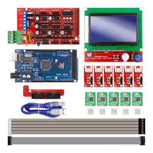 Image 1 - CNC 3D Printer Kit for Arduino Mega 2560 R3 + RAMPS 1.4 Controller + LCD 12864 + 6 Limit Switch Endstop + 5 A4988 Stepper Driver