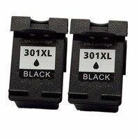 2 Black Ink Cartridges For HP 301 XL HP301 HP301XL 301XL Envy 4500 4502 4504 4505