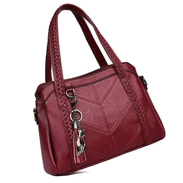 Women Handbag Genuine Leather Tote Bags Tassel Luxury Women Shoulder Bags Ladies Leather Handbags Women Fashion Bags 2018 2