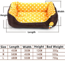 ULTRASOUND PET All Seasons Small Medium Size Extra Pet Dog Bed House Sofa Kennel Soft Dots Fleece Pet Dog Cat Warm Bed S M L
