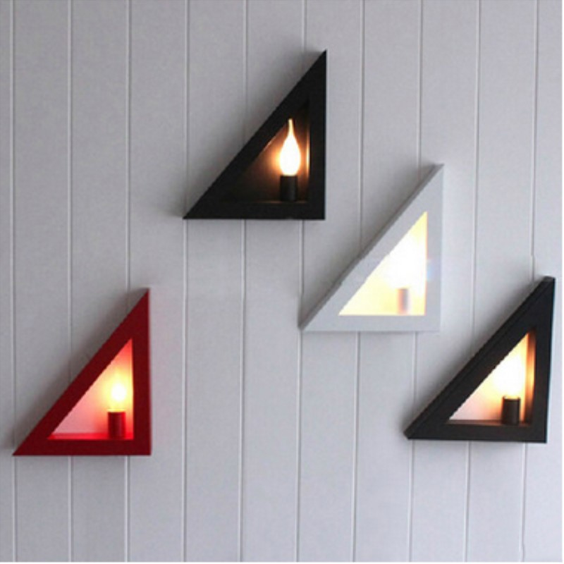 White / Black Europe Modern Creative Concise Triangle Wall Light Aisle Livingroom Bedroom Study Decoration Lamp Free Shipping free shipping 220v high quality modern acrylic lights creative wall lamp fit to install the new listing study bedroom aisle