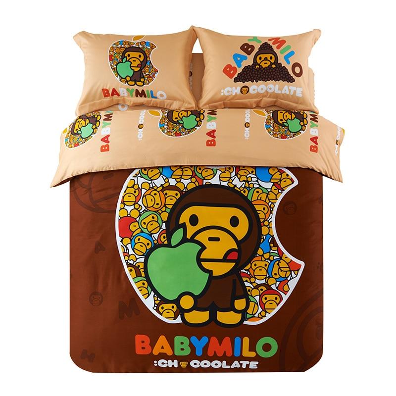 Juego de Cama Textiles Para El hogar 100% Algodón BAPE 3-4 unids ropa de Cama Ro