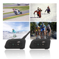 2 Unids V6 Intercomunicador Del Casco 6 Jinetes 1200 M Bluetooth de La Motocicleta Intercom Headset walkie talkie Casco BT Interfono