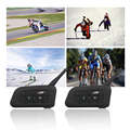 2Pcs V6 Helmet Intercom 6 Riders 1200M Motorcycle Bluetooth Intercom Headset walkie talkie Helmet BT Interphone