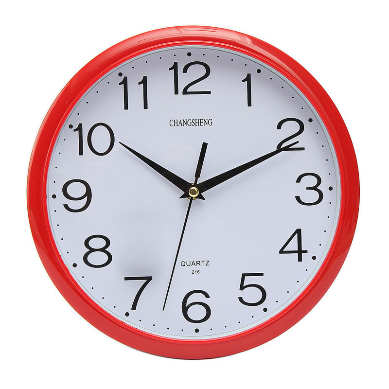 Large Vintage Round Modern Home Bedroom Retro Time Kitchen Wall Clock  Quartz With Six Colors(