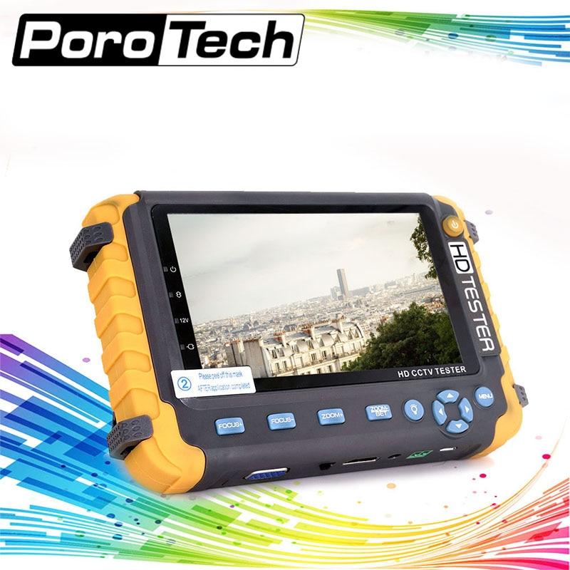 IV8W 5 Pouce TFT LCD 1080 P 5MP 4-EN-1 TVI AHD CVI analogique Testeur CCTV Caméra de Sécurité Testeur Moniteur VGA HDMI Entrée Audio Test