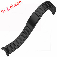 Stainless Steel Bracelet Watch Band Strap Straight End Solid Links *3522 Brand New High Quality Luxury Free Shipping