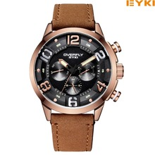 EYKI Brand Men Watch Casual Leather Watches Waterproof Quartz Watch Military Wrist Watch Men Clock relogio masculino