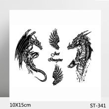 ZhuoAng Curse of the Dragon Clear Stamp  Seal for DIY Scrapbooking Photo Album Card Making Decoration Supply