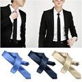 2016 5.5 cm Estrechos Lazos Corbatas de Moda Partido Formal de La Boda Del Novio de Los Hombres de Color Sólido Gravata Llano Delgado Lazo de Los Hombres corbata 40 Colores